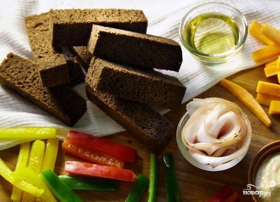 Гренки в духовке - пошаговый рецепт