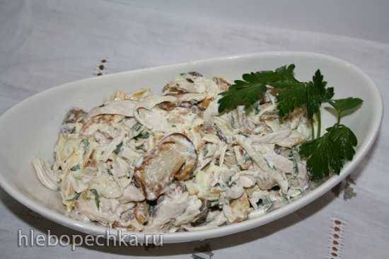 Салат - Рваная курица - с грибами - пошаговый рецепт с фото на