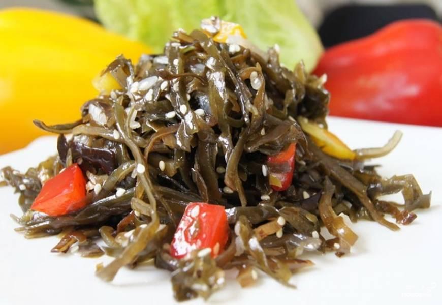 корейский салат из морской капусты