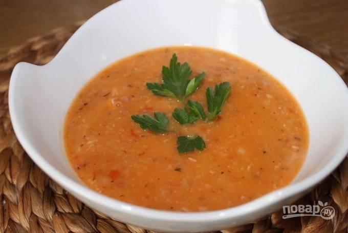 Суп из свинины с фасолью