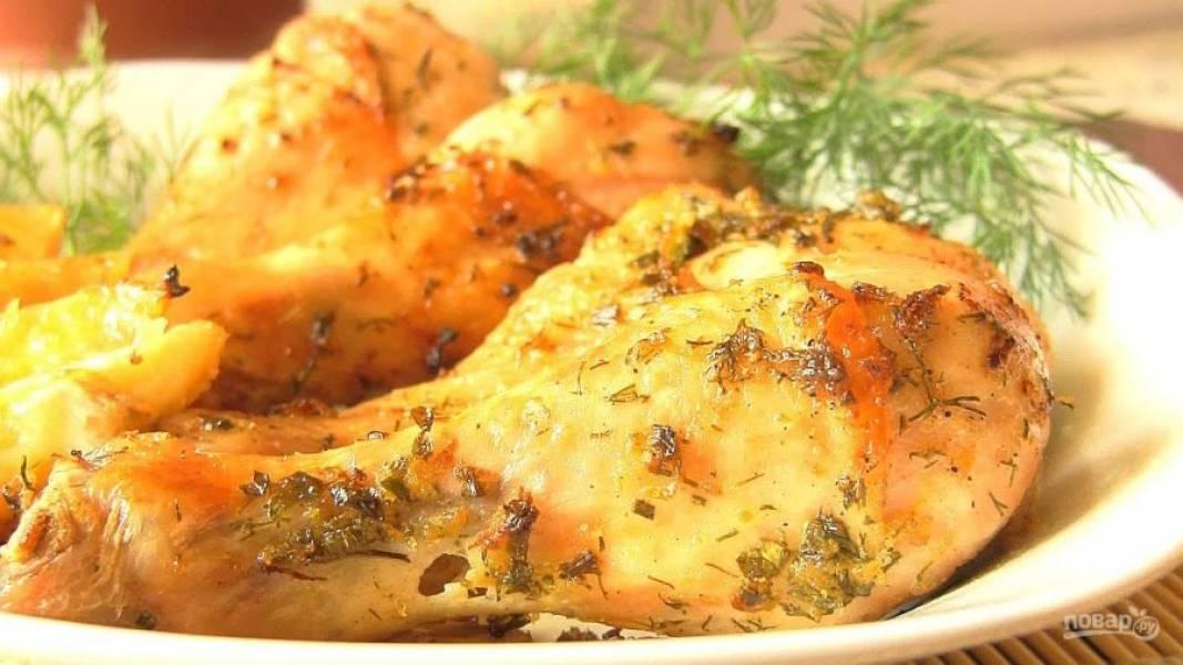 Куриная голень в сливках в духовке рецепты