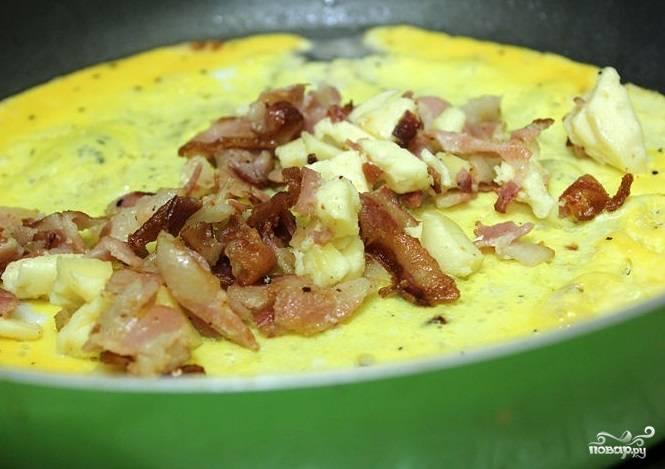 Омлет с беконом - пошаговый рецепт с фото на