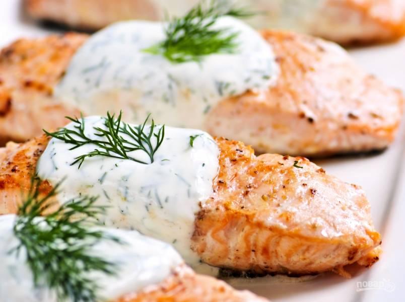 Соус для лосося
