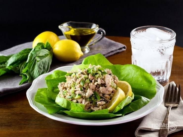 Быстрый салат с тунцом