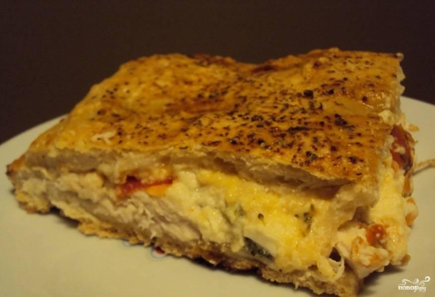 Закрытая пицца с курицей и брокколи - пошаговый рецепт с фото на