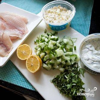Тилапия с квиноа и огурцом - пошаговый рецепт