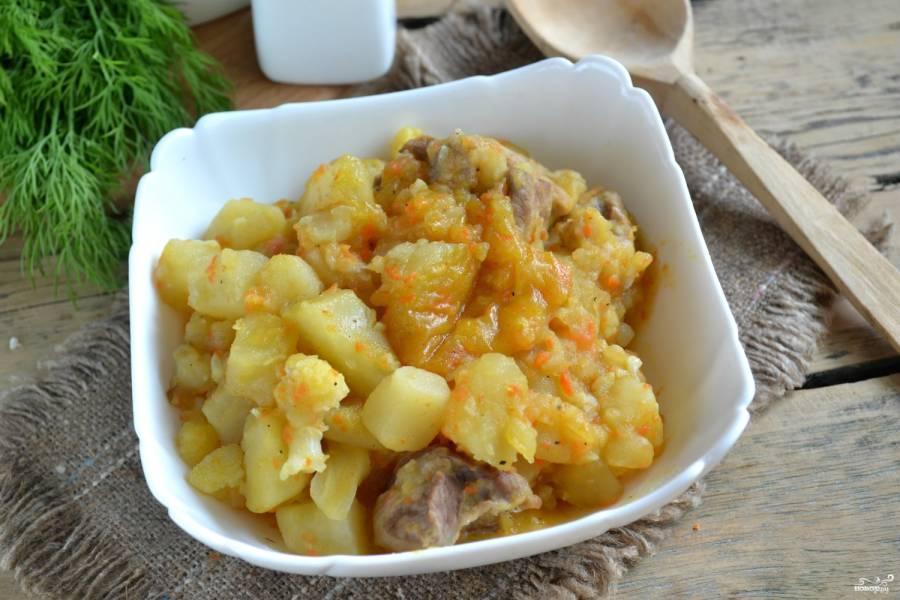 Рагу с картошкой и мясом в мультиварке рецепты с фото