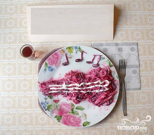 Пурпурный салат - пошаговый рецепт с фото на