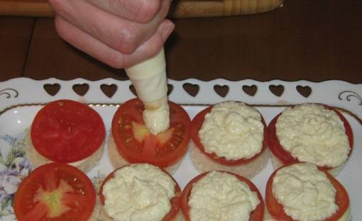 Канапе с сыром фета - пошаговый рецепт