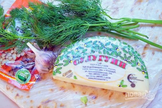 Сулугуни в лаваше - пошаговый рецепт с фото на