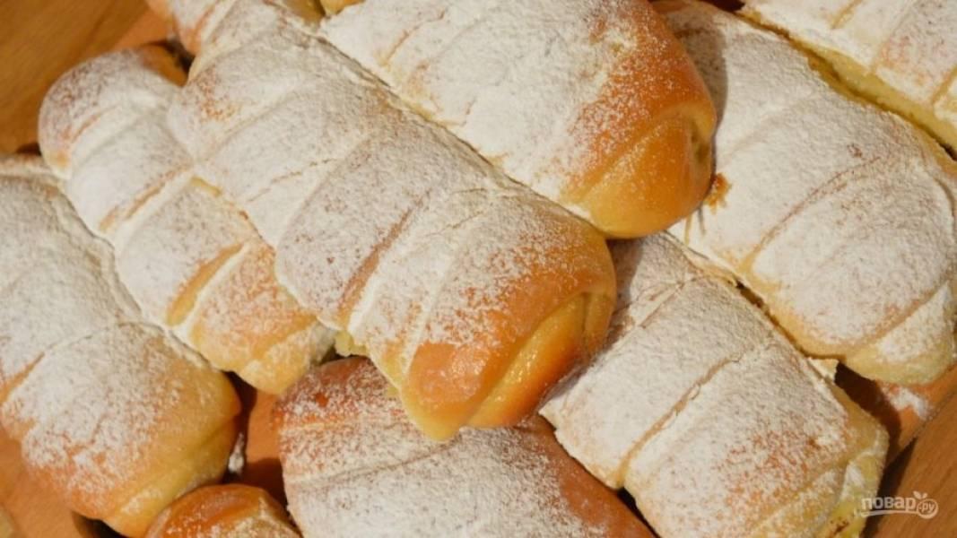 Булочки - Крем-де-Паризьен - пошаговый рецепт