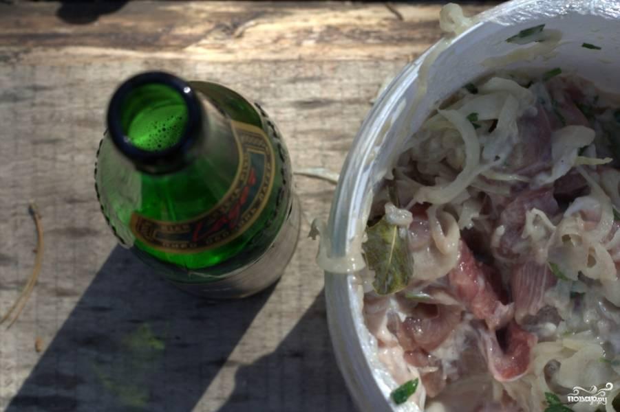 Шашлык свиной в пиве - пошаговый рецепт