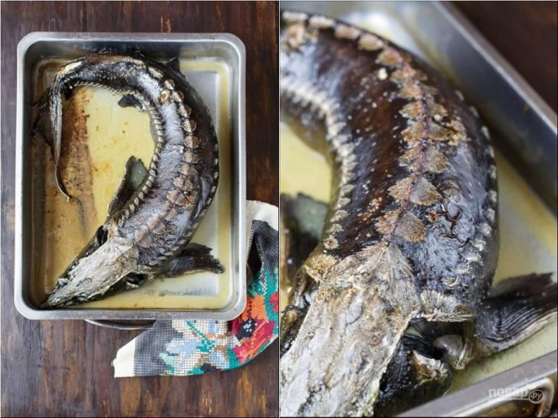 Осетр в духовке - пошаговый рецепт с фото на