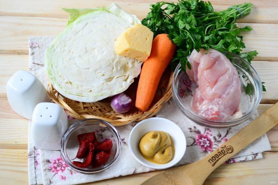 Куриные рулетики с капустой - пошаговый рецепт с фото на