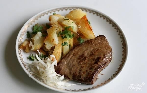 Лангет из говядины на сковороде
