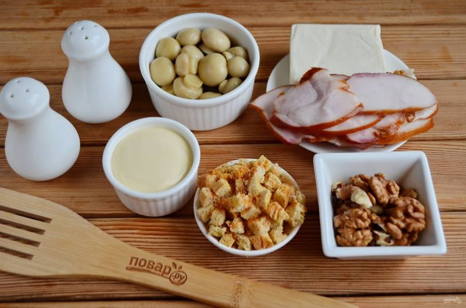 Салат с грибами и сыром - Искушение - пошаговый рецепт с фото на