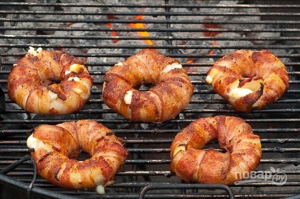 Оригинальные пончики с беконом - пошаговый рецепт с фото на