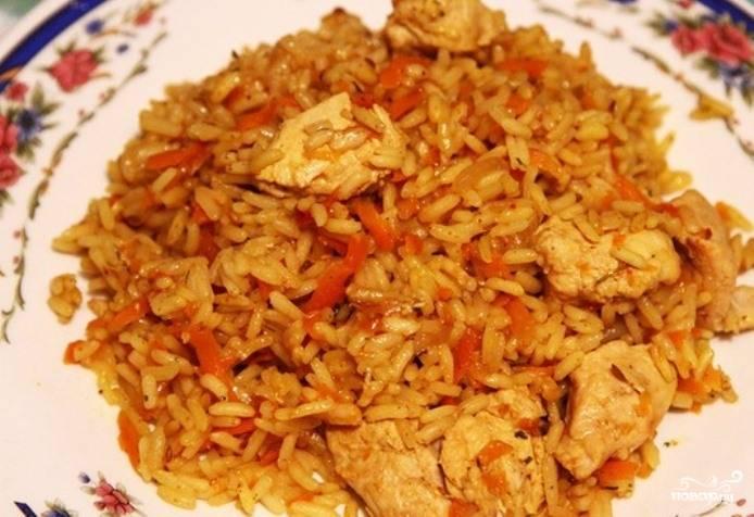 Плов с рисом пошаговый рецепт