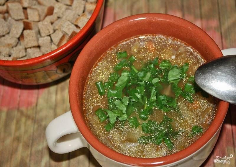 Суп из белых грибов с вермишелью