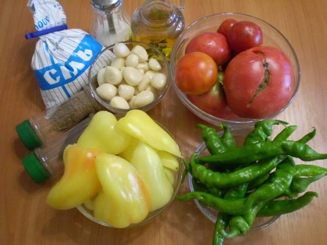 Аджика - Огонек - на зиму - пошаговый рецепт