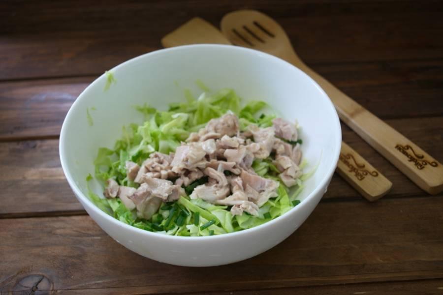 Салат с изюмом и курицей - пошаговый рецепт