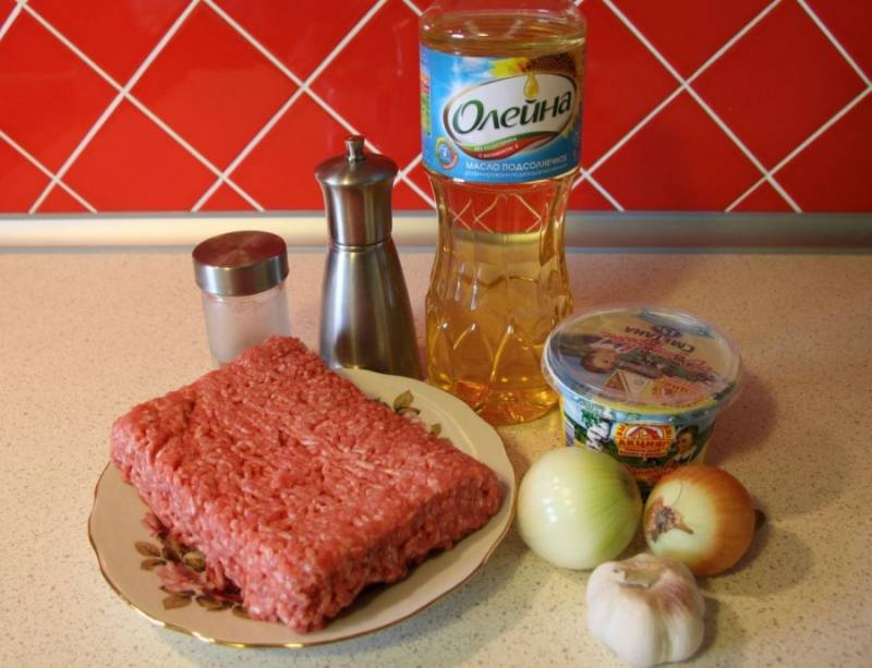 Фарш со сметаной - пошаговый рецепт