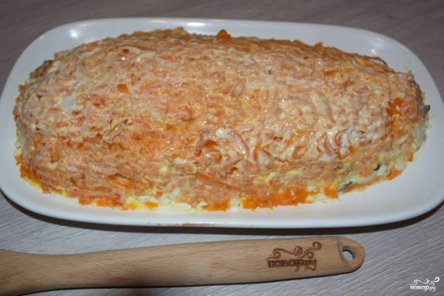 Салат - Лисий хвост - пошаговый рецепт с фото на
