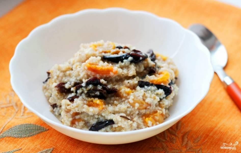 Каша с орехами и сухофруктами - пошаговый рецепт с фото на
