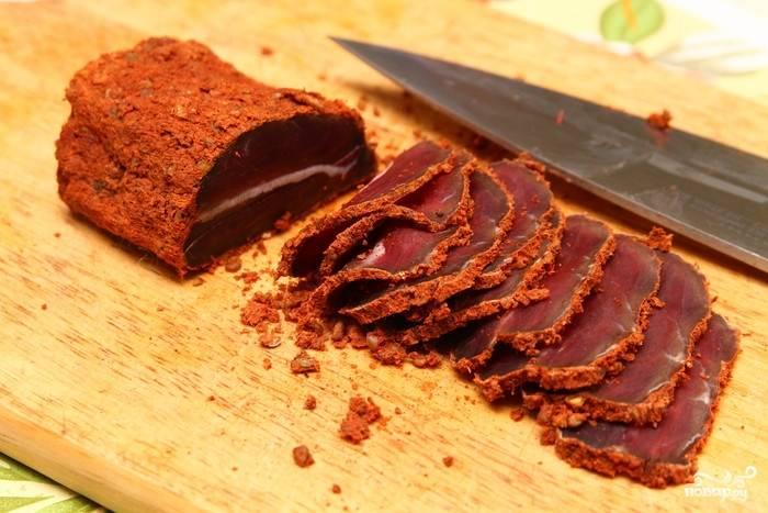 Бастурма из конины - пошаговый рецепт