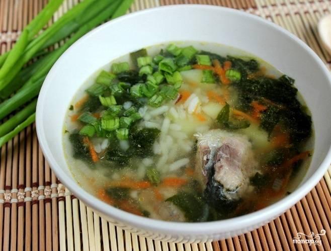 Суп из консервы с рисом