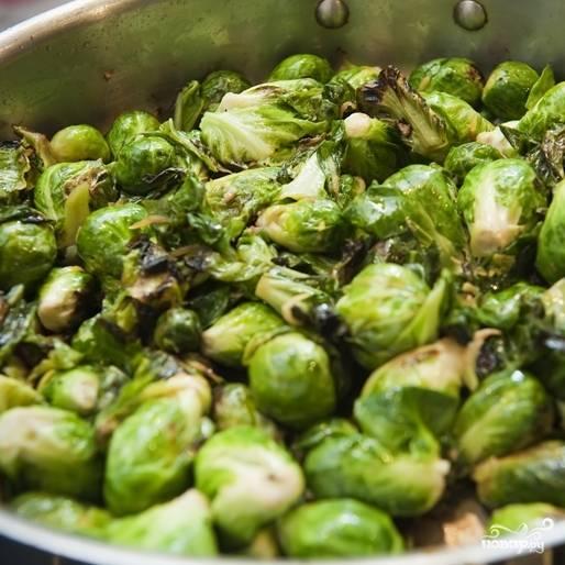 Жареная брюссельская капуста - пошаговый рецепт