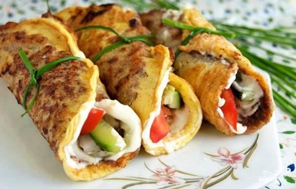 Бризоль с овощами