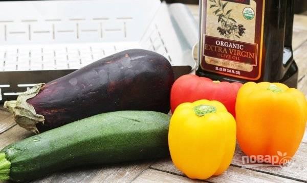 1. Цукини, баклажан и сладкий перец – один из вариантов вкусового сочетания.