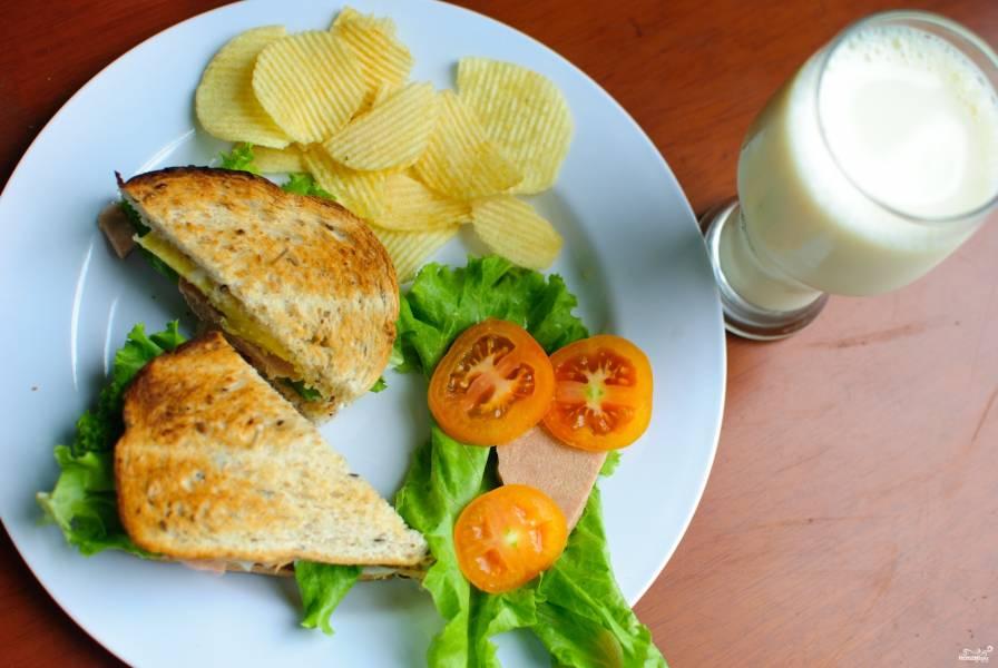 сэндвичи колбасой рецепты с фото