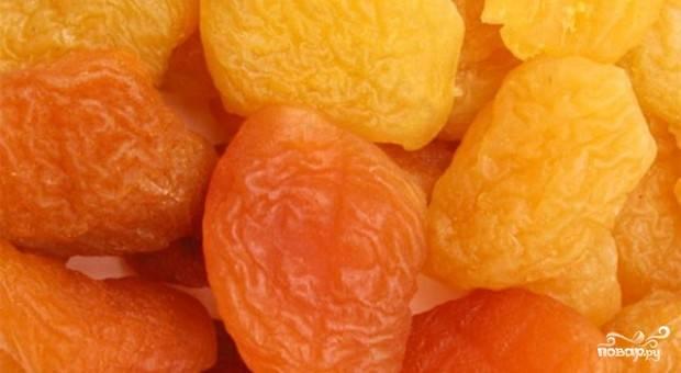 Сухофрукты из персика