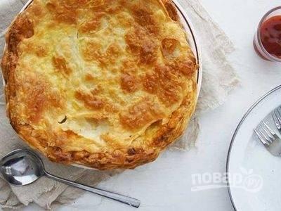 Простой рецепт мясного пирога