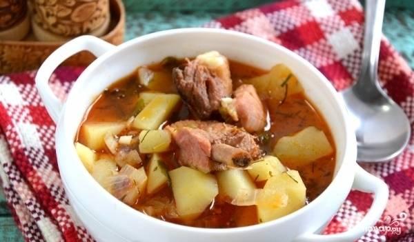 Картошка со свининой в казане - пошаговый рецепт