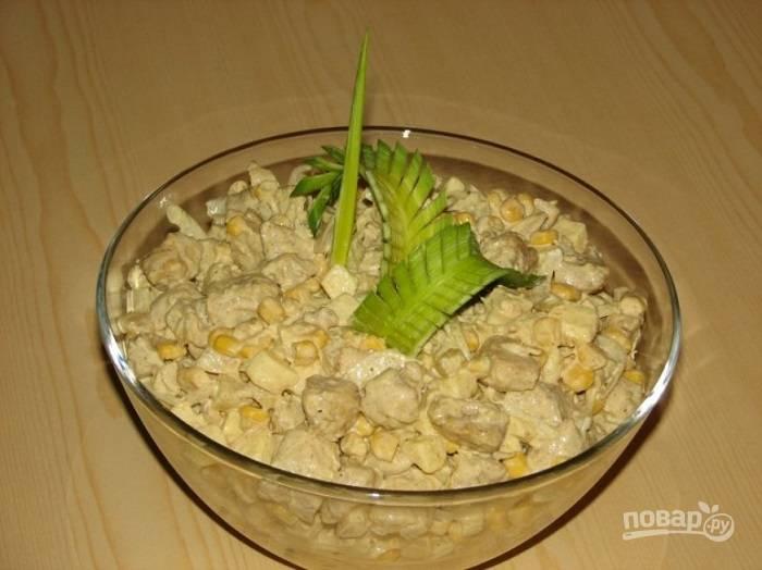 Салат из ананасов с курицей