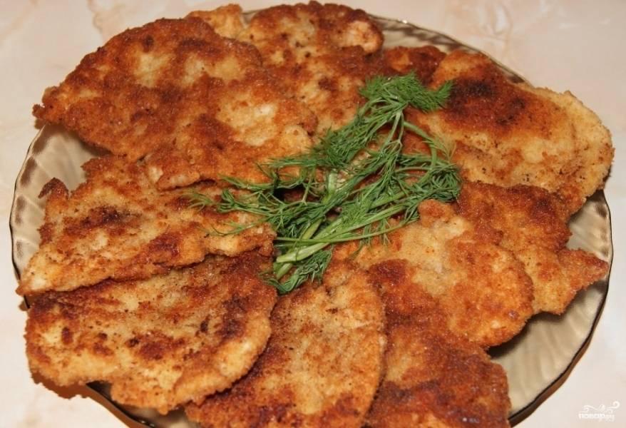 отбивные на сковороде из куриного филе рецепт с фото