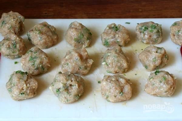 Куриные шарики в соусе - пошаговый рецепт