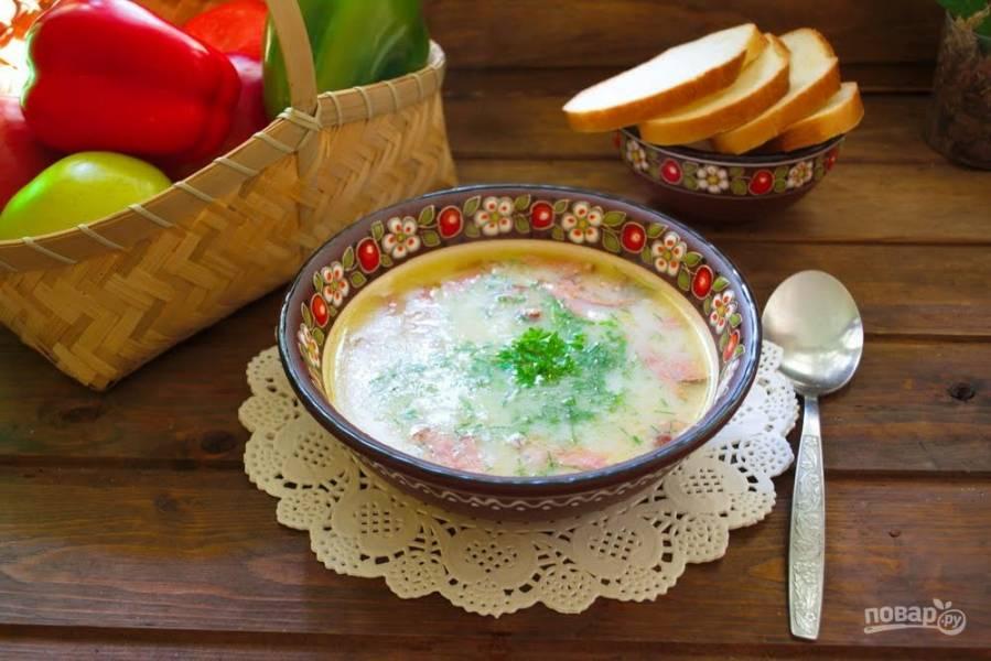Гороховый суп с копченостями