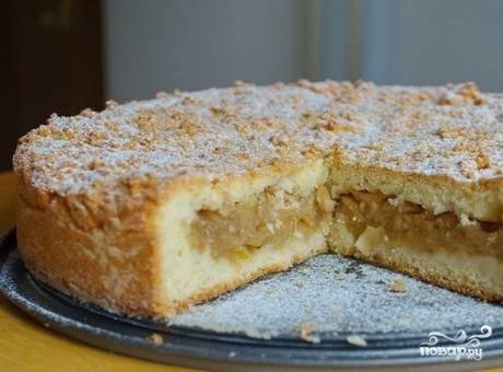 Песочный яблочный пирог - пошаговый рецепт с фото на