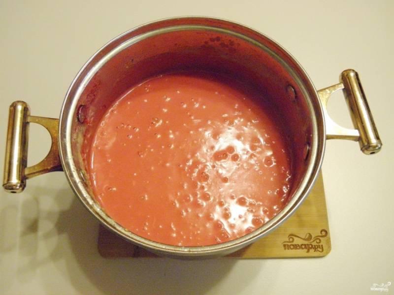 Масса для колбасы готова. Дайте немного остыть.
