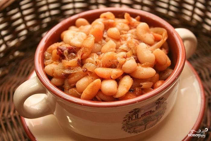 Печеные бобы - пошаговый рецепт