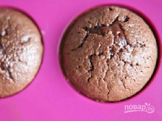 Кекс с жидким шоколадом внутри - пошаговый рецепт с фото на