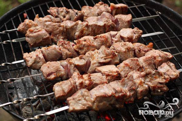 Шашлык из свинины с помидорами - пошаговый рецепт