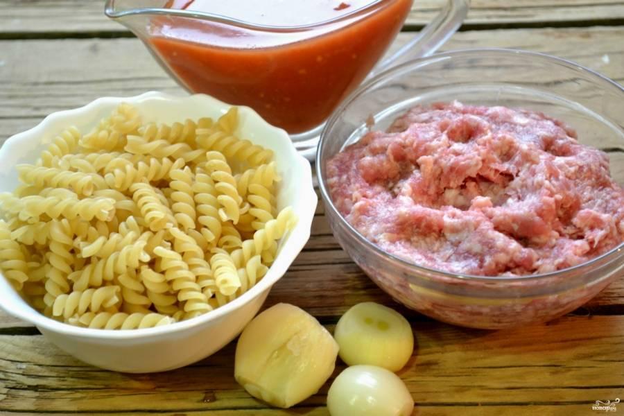 Макароны с фаршем под соусом - пошаговый рецепт