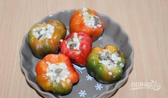 Сладкий перец, фаршированный перловкой - пошаговый рецепт с фото на