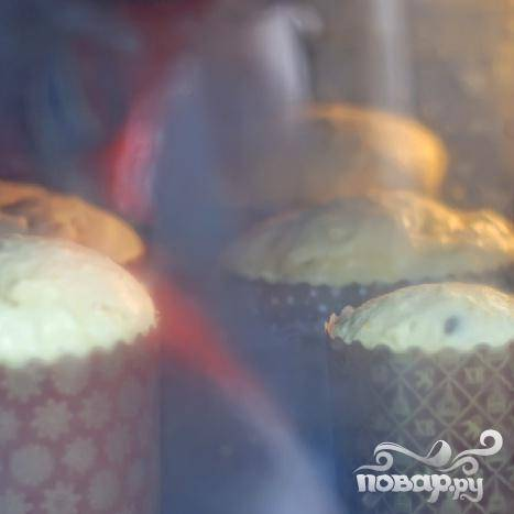Кулич в формочках - пошаговый рецепт