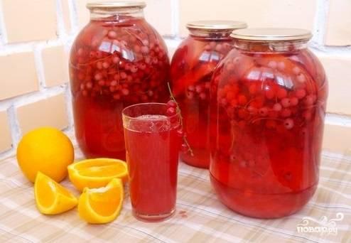 Компот из красной смородины с апельсином
